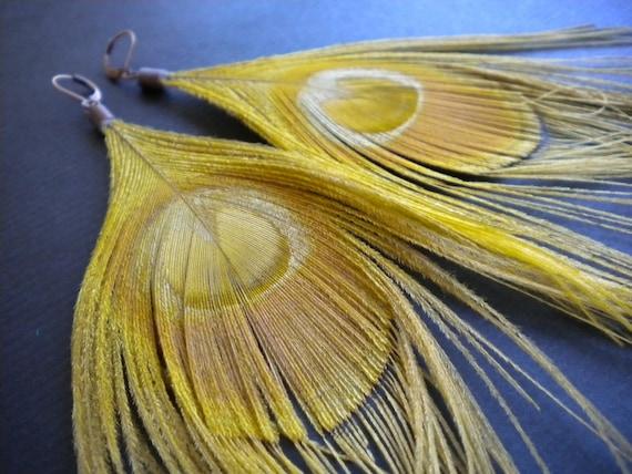 Heathers feather earrings - Loni