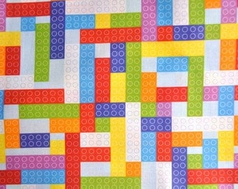 Small Sky Bricks fabric - FQ