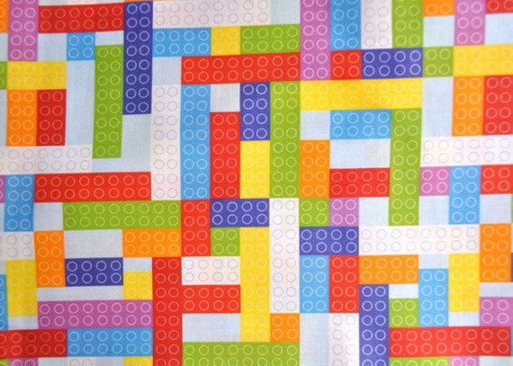 Small Sky Bricks fabric - half yard