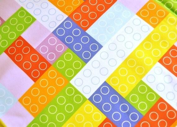 Big Purple Bricks print - FQ