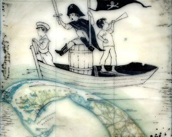 Print - Limited Edition - Pirates of Provincetown - mixed media, encaustic