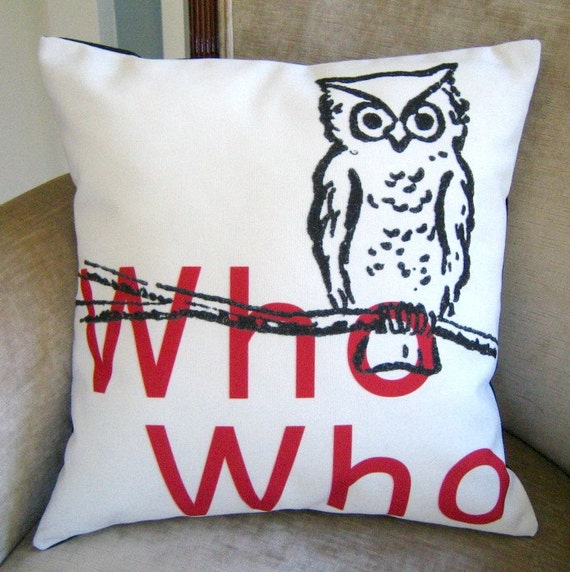 Who who pillow