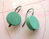 Robins Egg Earrings -- Turquoise and sterling silver