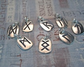 Sterling Silver Rune Charm Elder Futhark Pick Your Rune