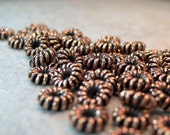 SOLID COPPER Spacer Beads Twenty Five 5mm