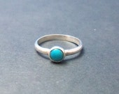 Handmade Turquoise Sterling Silver Stackable Ring any size available
