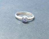 Handmade Rainbow Moonstone Sterling SIlver Stackable Ring any size available.