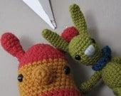 Stephan and Pilar the Bunny and Caterpillar Buddies