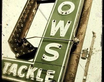 Tackle Neon Sign 5x5 Fine Art Photo