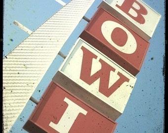 Bowl Sign 5x5 Fine Art Photo