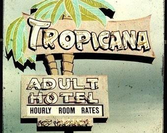 Tropicana Hotel Neon Sign 5x5 Fine Art Photo