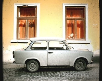 White Car Orange Windows 5x5 Fine Art Photo