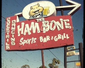 Hambone Neon Sign 5x5 Fine Art Photo