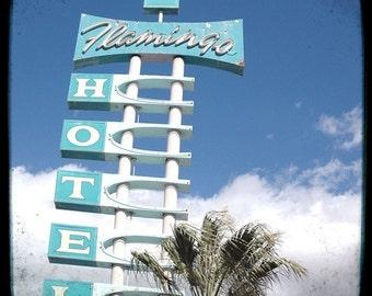 Flamingo Hotel Sign 5x5 Fine Art Photo