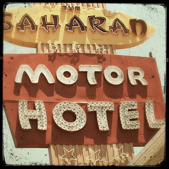 The Saharan Motor Hotel 5x5 Fine Art Photo