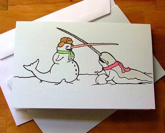 Making Snowhals - a holiday card