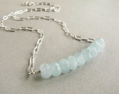 ON A CLEAR DAY - aquamarine necklace
