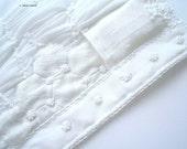 Soft White Textile Art