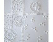 Original Embroidered Paper Art