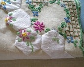 Reclaimed Cloth Linen Napkin with Hand embroidery