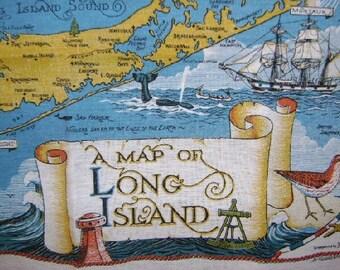 Fabulous Long Island Souvenir Linen Kitchen Towel
