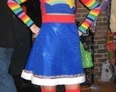 RESERVED for Brookshire Botanics - Rainbow Brite Costume