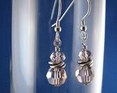 Swarovski Vintage Rose Crystal  Earrings