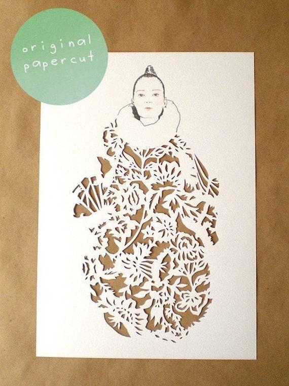 romantic fashion papercut