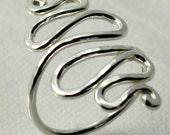 Double Whiplash Snake Ring (Spiral Dance)