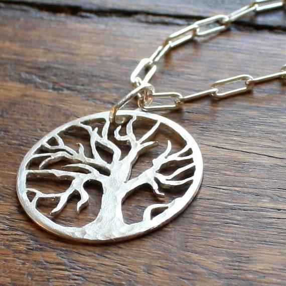 Oak Tree Necklace in Sterling Silver