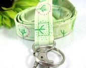 Fabric Lanyard with Lime Trees