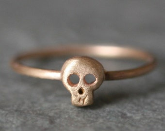 Baby Skull Ring in 14k Gold