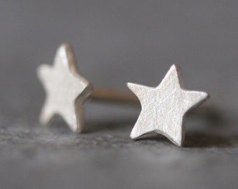 Tiny Star Stud Earrings in Sterling Silver