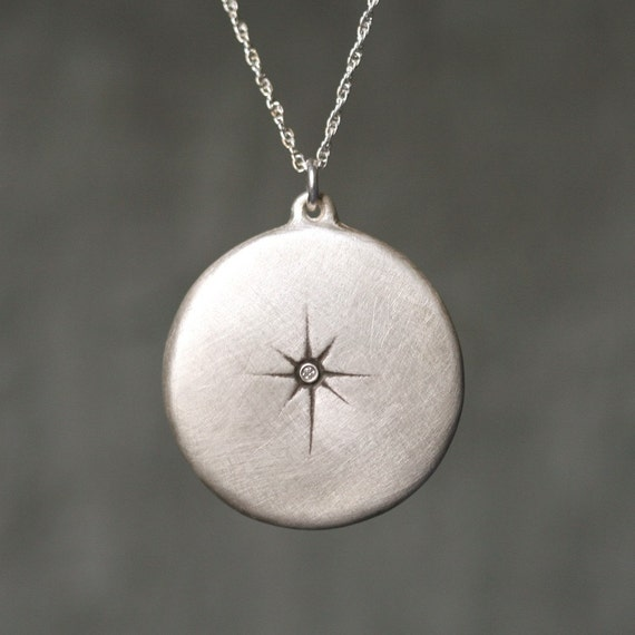Starburst Necklace in Sterling Silver with Diamond