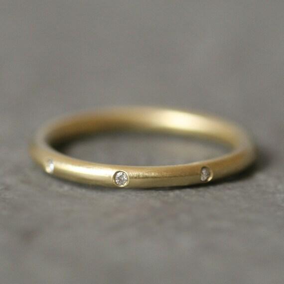 8 Diamond 14k Gold Ring
