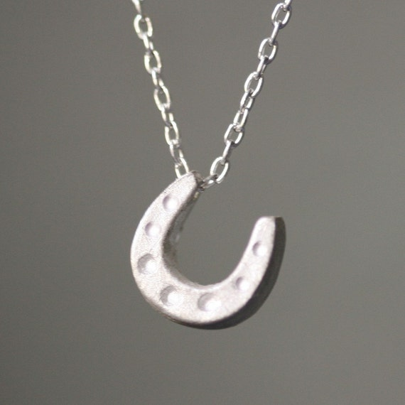 Mini Horseshoe Necklace in Sterling Silver
