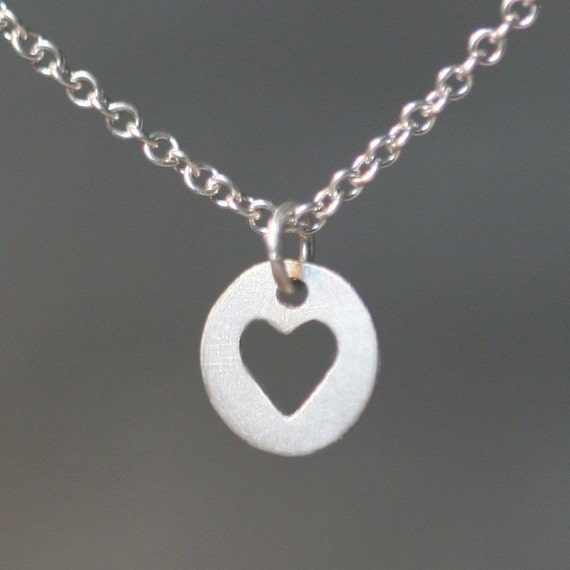 Heart Cutout Necklace in Sterling Silver