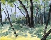 Michigan Forest - Original Watercolor