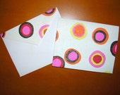 PIF- Polka Dot Card with Matching Envelope