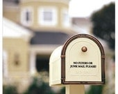 No Junk Mail Mailbox decal