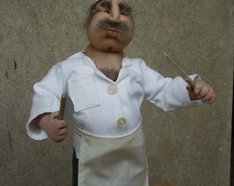Doll pattern Marko the butcher -nylon head needle sculpted doll-PDF pattern