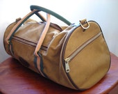 Vintage Duffel - An Army Green Canvas Bag