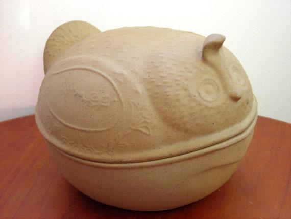 Vintage Casserole Baking Dish - Bird Quail Japan