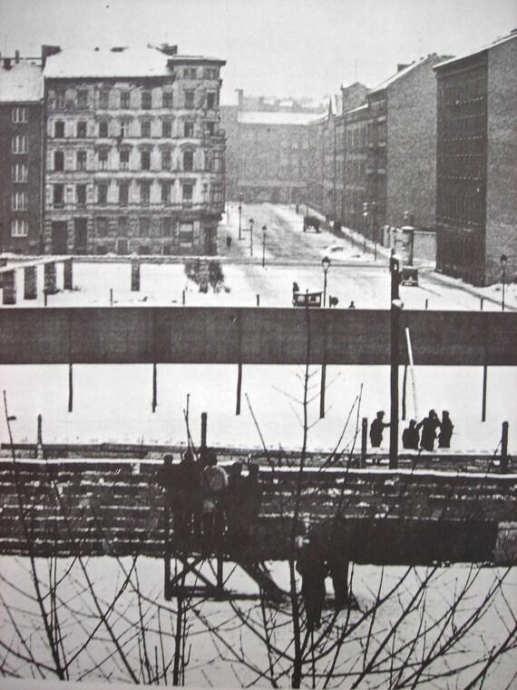 Berlin Wall Print - Black and White Art Print Industrial Germany