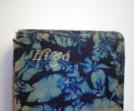 Antique Book - Blue Leather Bound Victorian Victor Hugo