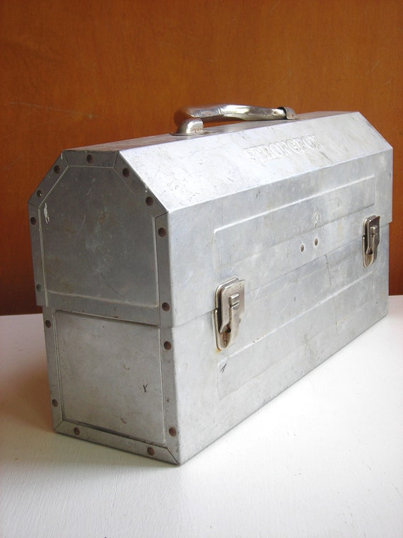Vintage Industrial Metal Riveted Miner S Lunchbox Lunch