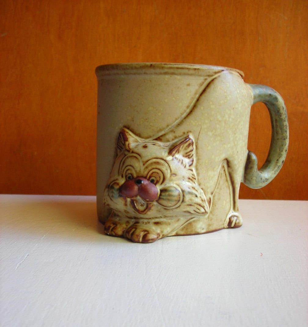 Cat Mug With Tail Handle