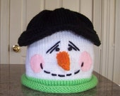 ePattern for Snowman Hat / Scarf / Thumbless Mittens / pdf file / baby / newborn hat