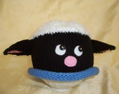 Pattern Sean the Sheep Hat /  newborn to large /Instant Download/ girl/boy