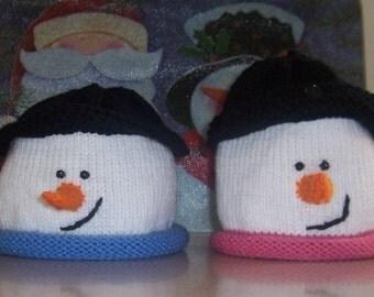 Snowman Hat PATTERN for Hat--boy or girl  e-pattern
